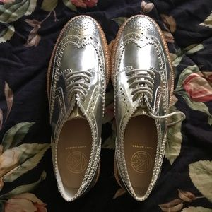 Kurt Geiger silver oxfords